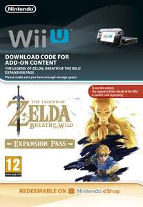 Zelda Breath of the wild DLC £13.85 (Wii U) £14.85 (Switch) @ ShopTo