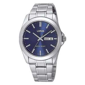 Lorus Classic Blue Dial Stainless Steel Bracelet Gents Watch with Day & Date Model RJ603AX9 £17.99 @ 7dayShop