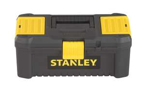 "Stanley STST1-75514""Essential"" 12.5"" Toolbox with Plastic Latches, Black/Yellow £4.99 (+£4.49 NP) Delivered @ Amazon"