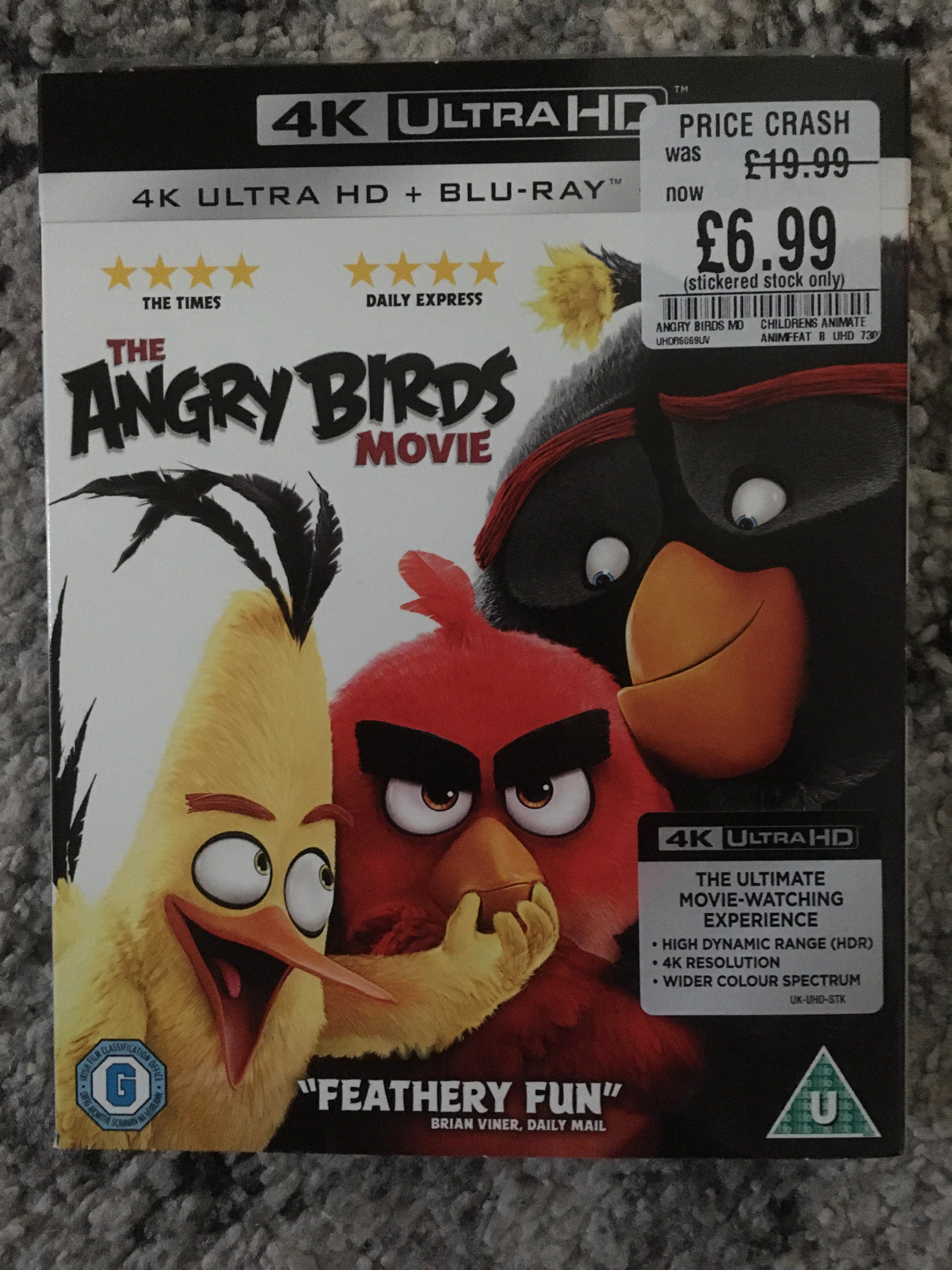 The Angry Birds Movie 4K UHD @ £6.99 - HMV Harrogate Instore