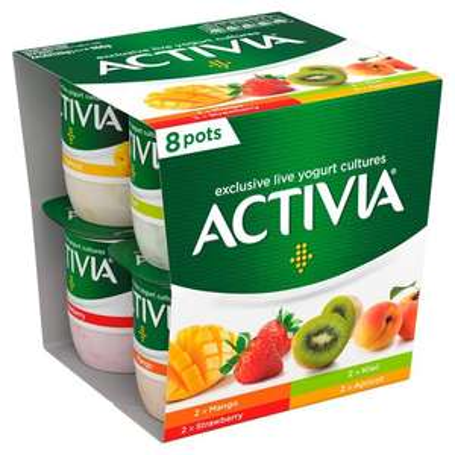 Activia Strawberry, Apricot, Kiwi & Mango 8x120 Gm £1.50 + 4 Other Flavours @ Ocado