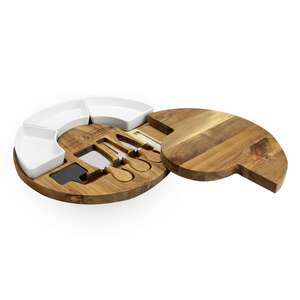 Maison & White Acacia Round Cheese Board & Knives Set £13.99 @ Roov (Free P&P With Code)