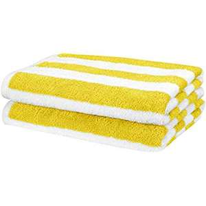 2 yellow Beach Towels - Amazon's own brand - £12.63 delivered with Prime (+£4.49 Non Prime) @ Amazon