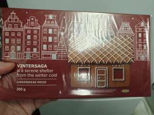 Gingerbread house 50p instore @ Ikea