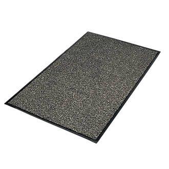 Vyna-Plush Entrance Mat 0.9m x 1.5m Black/Steel £24.99 @ Screwfix