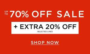 Burton's upto 70% sale + Extra 20% off selected lines