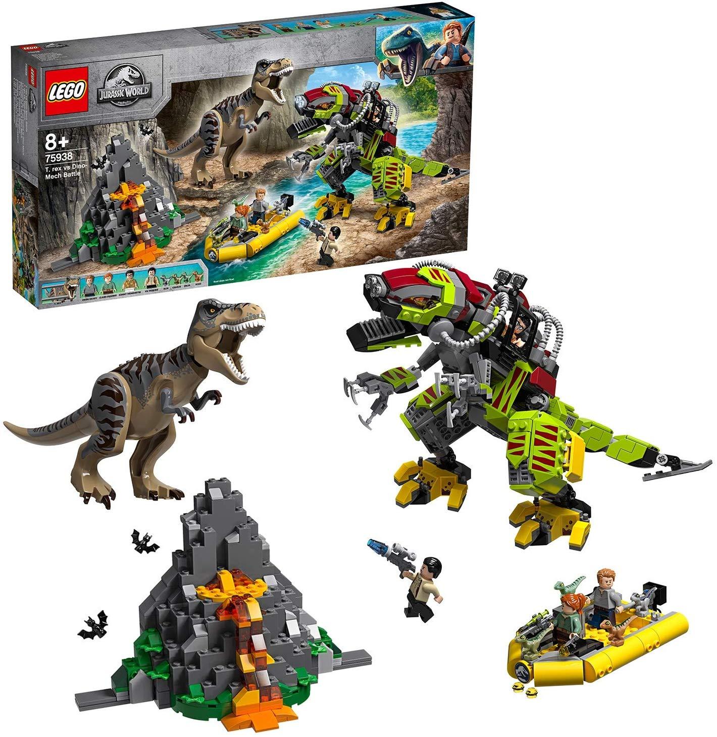 LEGO 75938 Jurassic World T. Rex vs Dino-Mech Battle £66.95 @ Amazon