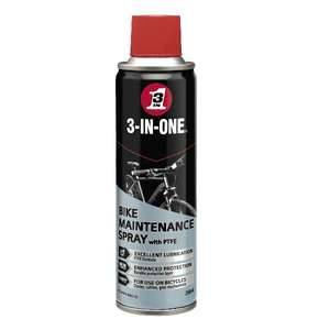 3 in One 250ml Bike Lubricating & Protecting Spray - Free Click And Collect £1.01 @ Euro Car Parts