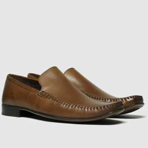 Kids Schuh leather tan warwick moccassin shoes (Free C&C)(Size 4/5)