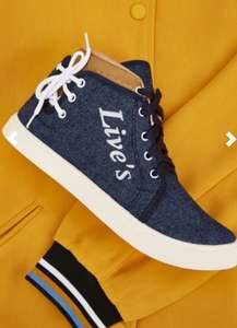 Contrasted High Top Denim shoes Trainers £6.45 delivered @ Everything5pounds