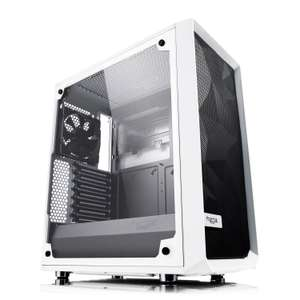 Fractal Design Meshify C White Tempered Glass Mid Tower PC Gaming Case with 2 x 120mm Fans £79.99 at Scan