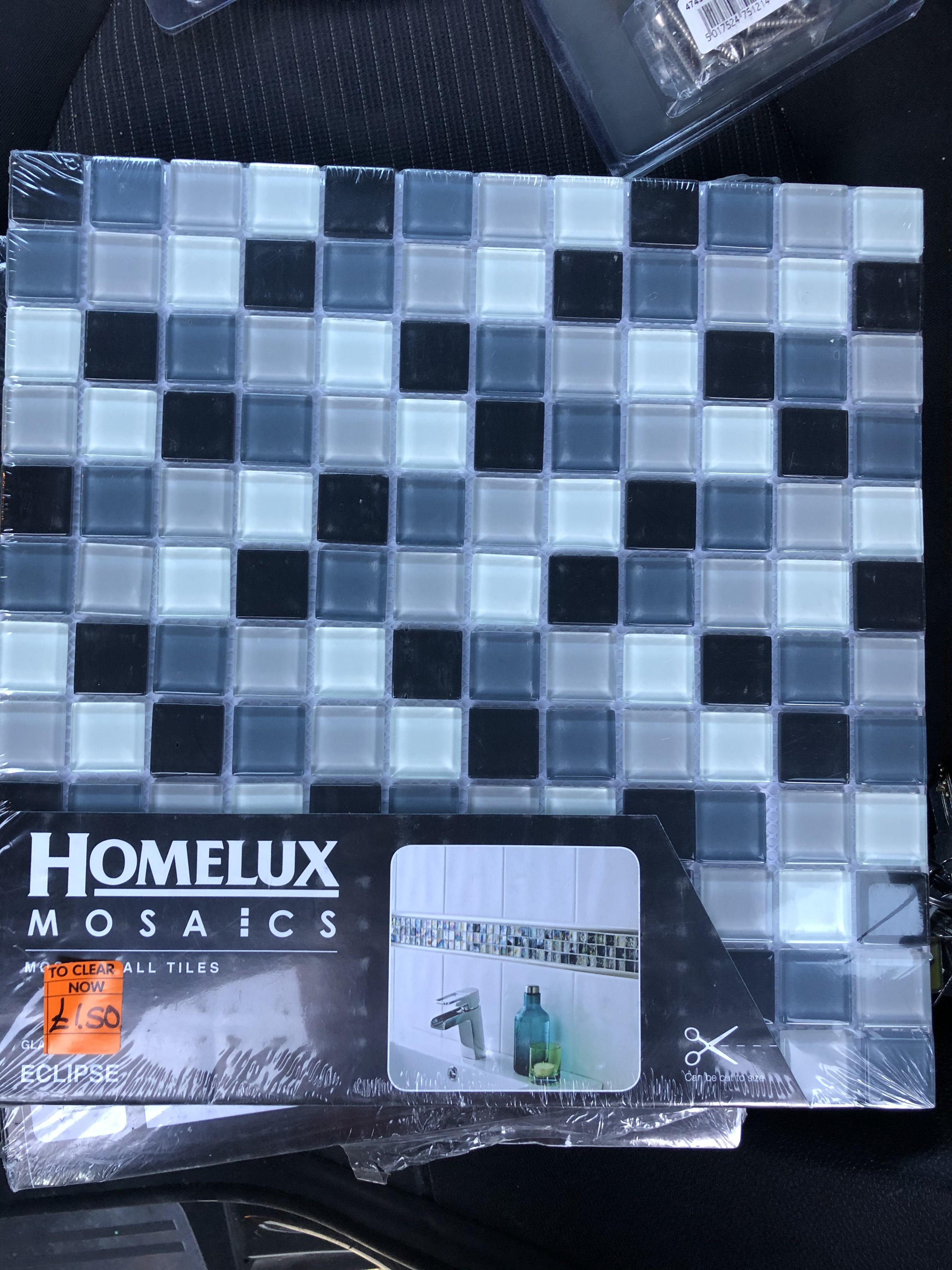 Mosaic wall tiles reduced to £1.50 at Homebase Streatham