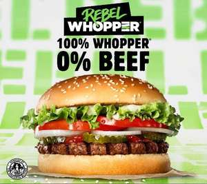 FREE Fries with purchase of a Rebel Whopper (£4.49) on Monday via Burger King app