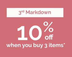 Extra 10% off sale prices when buy 3 items at Playtex