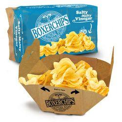Boxerchips Sea Salt & Vinegar crisps 40g - 15p @ Poundstretcher