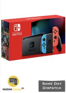 Nintendo Switch Console V2 - Neon Red Blue & Grey Extended Battery Life Version £190 at hettys23 eBay