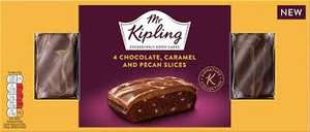 2 x Boxes of Mr Kipling Chocolate Caramel & Pecan Slices. £1 Heron Foods Abbey Hulton