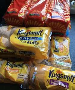Kingsmill crumpets, golden pancakes and rolls. 6pk All 39p at FarmFoods Llanelli