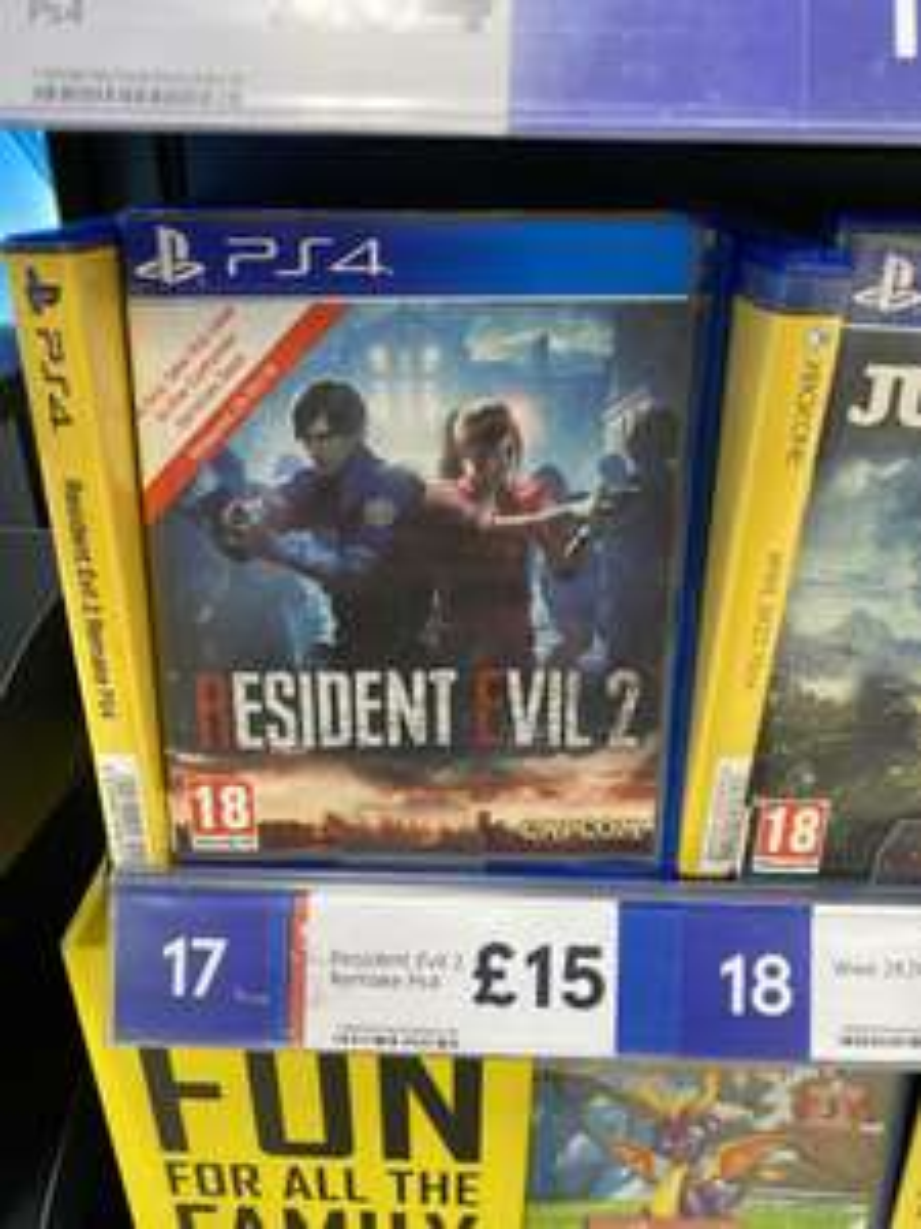 Resident Evil 2 Remake Playstation 4 / PS4 £15 at Tesco