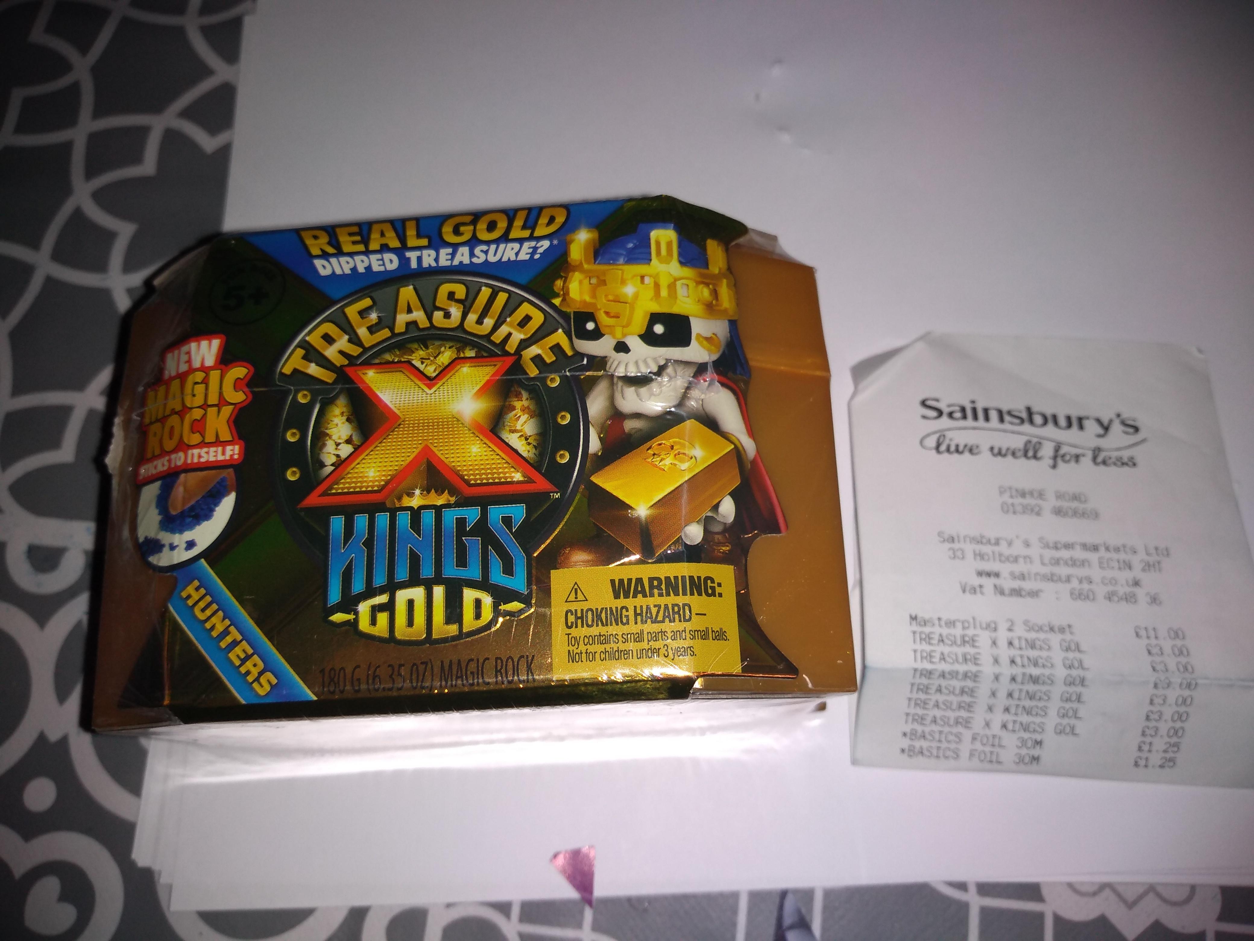 Treasure X Kings Gold £3.00 Sainsburys Phinoe Exeter