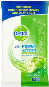 Dettol Floor Cleaning Wipes Power & Fresh Apple, 15 Wipes @ Prime Now (free delivery over £40. £3.99 under £40))