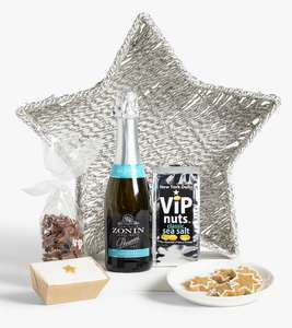 John Lewis & Partners Prosecco Star Basket Gift Set 70% off - £12 + £2 Click and Collect