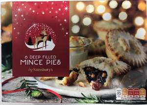 6 Deep Filled Mince Pies - 10p instore @ Sainsbury's