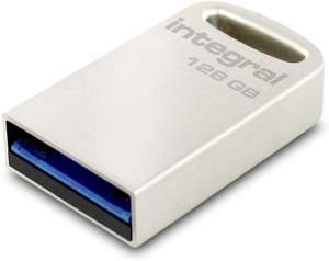 Integral 128GB USB Memory 3.0 Flash Drive Fusion Metal Casing up to 200MB/s Read, 35MB/s* Write for £16.25 Sold by Mymemory @ Amazon UK