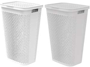 Keter Curver Terrazzo Laundry Hamper 55L - White or Grey - £11.20 + Free Click & Collect @ Homebase