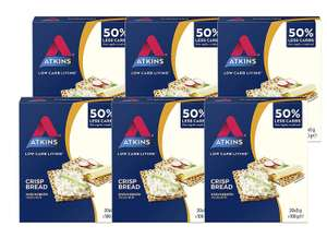 Atkins Low Carb, High Fibre Crispbread, Multipack 100 g (Pack of 6). £7.81 Amazon Prime / +£4.49 non Prime or lower on S&S