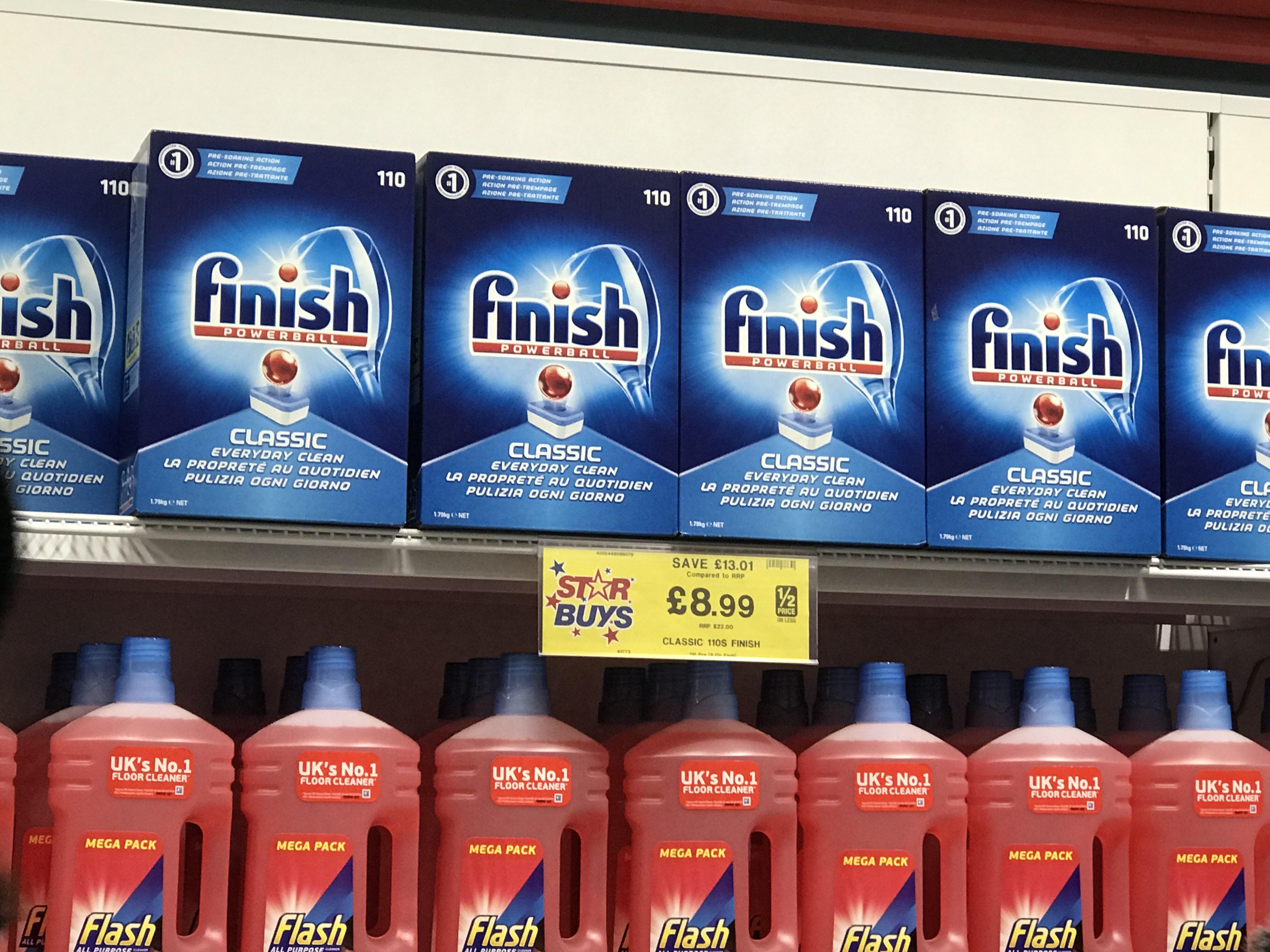 Finish classic 110 dishwasher tablets - £8.99 - Homebargains