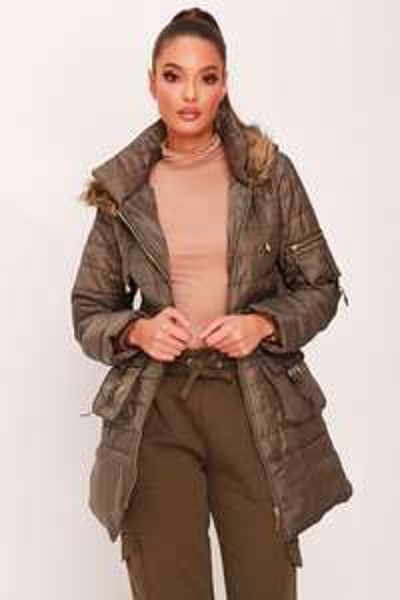 Khaki Padded Parka Coat £7.50 @ I Saw It First