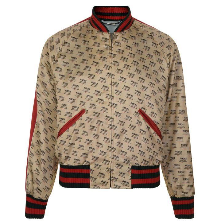 GUCCI Baseball Stamp Print Bomber Jacket £1575 @ Flannels