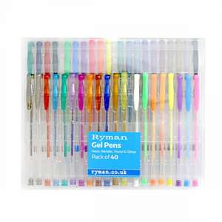 Ryman Gel Pen Variety Set Pack of 40 @ Ryman for £4.99