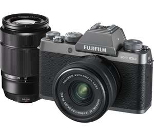 Fujifilm X-T100 XC with 15-45 mm f/3.5-5.6 OIS PZ & XC 50-230 mm f/4.5-6.7 OIS II Lens at Currys for £499