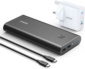 Anker Power Bank, PowerCore+ PD 45W with 60W PD Charger, Power Delivery Portable Charger Bundle @ Sold by AnkerFulfilled by Amazon £69.99