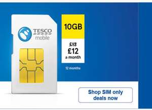 Tesco (o2) 10gb /5000min/5000sms 12months contract , total £144 (£12 per month - poss £90 cashback)