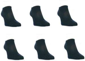 6 pairs of Mens Trainer Socks/Liners Black 6/11 - £1.74 + Free delivery Dispatched from and sold by Socksmad Ltd