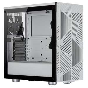 Corsair 275R Airflow Tempered Glass Mid Tower ATX Gaming PC Case - White £71.99 at AWD-IT