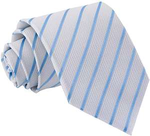 DQT Men Blue Solid Plain Stripe Floral Paisley Polka Dot Neck Tie for £2.99 Dispatched from and sold by DQT Ltd
