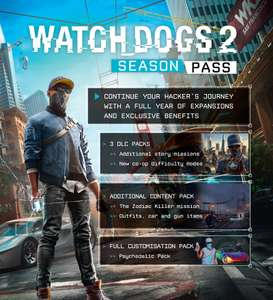 WATCH DOGS 2 SEASON PASS £8.50 on sale or a extra 20% off when you use your points at Ubisoft Store