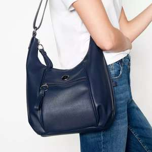 The Collection - Navy Zip Detail Shoulder Bag - £8.10 w/voucher @ Debenhams (Free Click and Collect)
