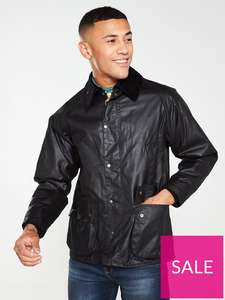 Barbour Bedale Wax Jacket - Black £92 at Very