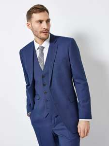 2 Piece Blue Texture Tailored Fit Suit (FREE C&C) £59 at Burton