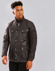 Barbour International Duke Wax Jacket Rustic - £111.40 with code at terraces at Terraces Menswear