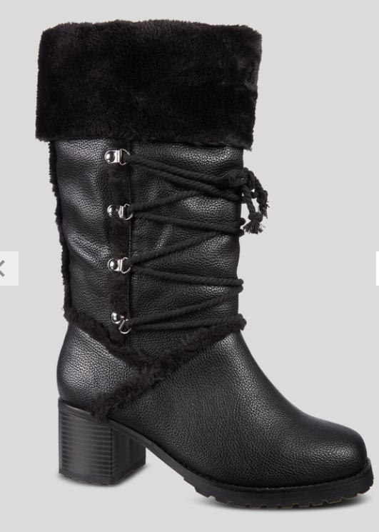 Black Ski Hook Fur Trim Boots £9 @ Sainsbury's £3 click and collect