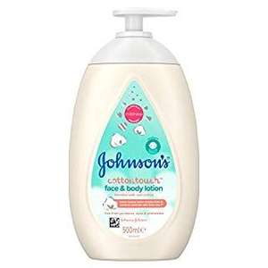Johnson's Baby Cottontouch Face & Body Lotion 500ml – Ultra-Light Moisture for babies - £1.90 @ Amazon Prime (+£4.49 non-Prime)
