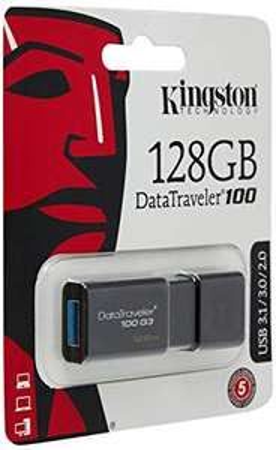 Kingston DT100G3/128GB DataTraveler 100 G3 USB 3.0, 3.1 Flash Drive £13.49 prime / £17.98 non prime @ Amazon