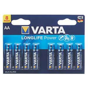 Varta High Energy AAA Batteries 8-Pack £2.74 @ Screwfix - click & collect