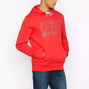 Levi's Red Logo Pattern Hoodie now £22 free click and collect with code at Debenhams